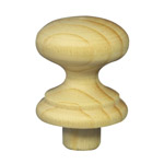 30mm Wooden Knob Handles (Pine)